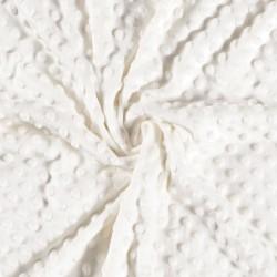 Minky dot velvet fabric -...