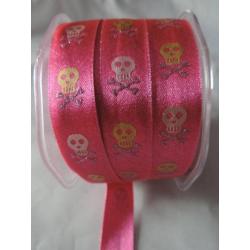 Shiny satin ribbon Skull 16...