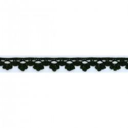 Cotton lace 14 mm / 14 Black